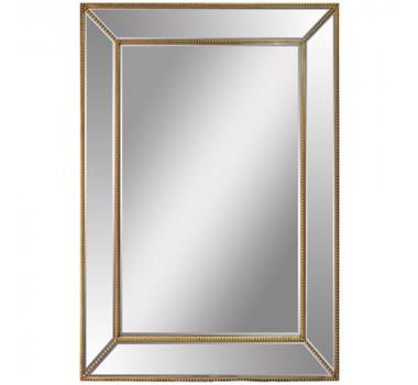 Espelho com Moldura Dourada Retangular Grande