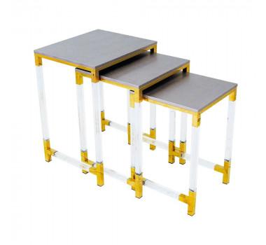conjunto-de-mesa-cinza-com-dourado-62x46x40cm