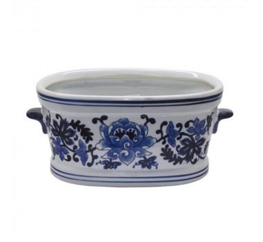 Cachepot em Cerâmica Estilo Borrão 16 cm x 26 cm