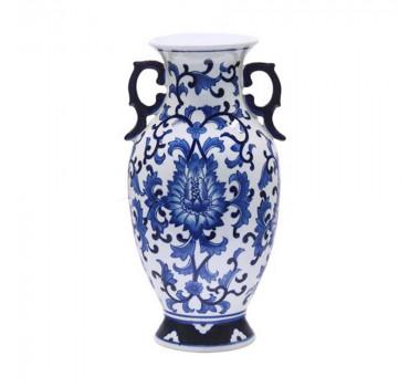 Ânfora em Cerâmica Estilo Borrão 37 cm x 19 cm