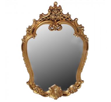 Espelho Clássico Provençal Folheado a Ouro