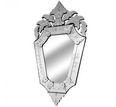 Espelho Veneziano Clássico Com Peças Sobrepostas Bisotadas
