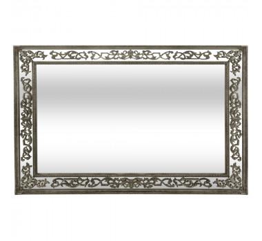 Espelho Em Madeira Com Pintura Dourada Envelhecida