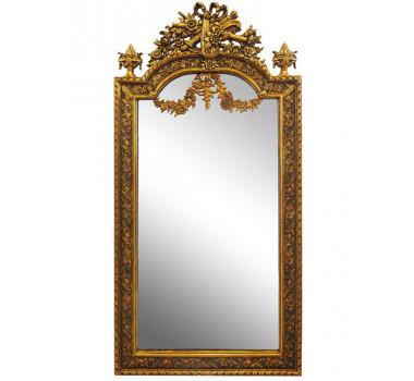 Espelho Com Modura Dourada Retangular Clássica Luis XV