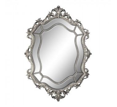 Espelho Grande com Moldura Clássica Decorativa Prata