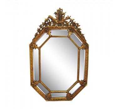 Espelho Moldura Dourado Clássica Estilo Francês Luis XV
