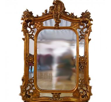 Espelho Clássico Folheado a Ouro 150 cm x 105 cm