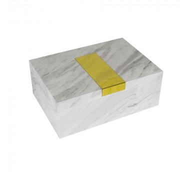 caixa-decorativa-em-madeira-com-revestimento-marmorizado-branca-e-placa-dourada-13x34x24cm