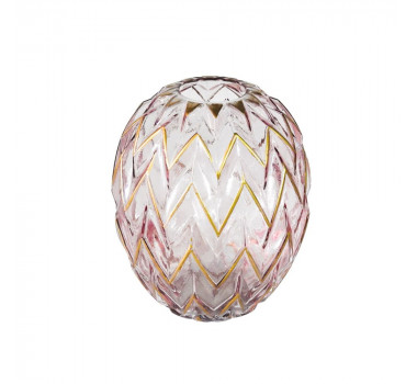 vaso-decorativo-em-vidro-na-cor-rosa-com-detalhes-em-dourado-20X17cm