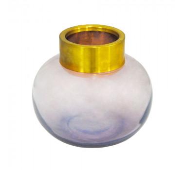 vaso-decorativo-em-vidro-na-cor-rosa-com-detalhes-em-dourado-17x19cm