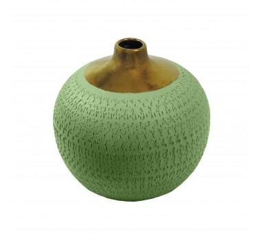 Vaso Decorativo em Cerâmica Verde - 18x18cm