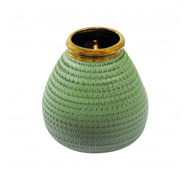 Vaso Decorativo em Cerâmica Verde - 18x20cm