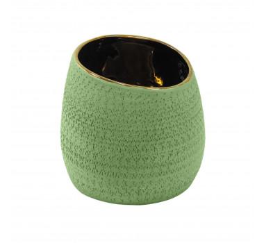 Vaso Decorativo em Cerâmica Verde - 15x15x15cm