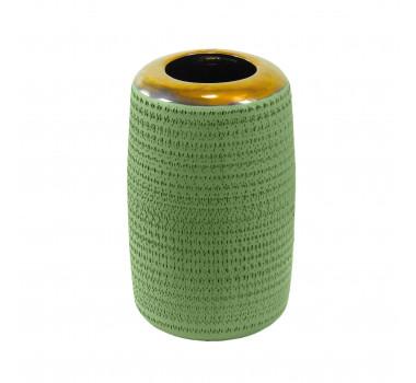 Vaso Decorativo em Cerâmica Grande Verde - 38x18cm