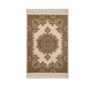 tapete-persa-kerman-bege-com-detalhes-em-verde-100x150cm