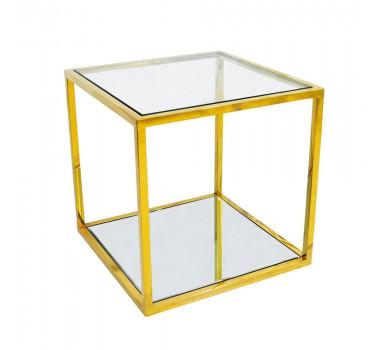 mesa-auxiliar-quadrada-dourada-com-tampo-de-vidro-50x50cm
