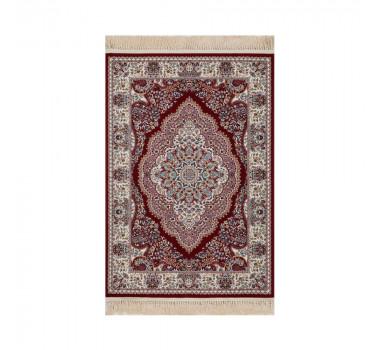 tapete-persa-mashad-vermelho-com-detalhes-em-azul-turquesa-100x150cm