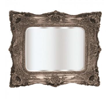 Espelho Clássico Moldura Decorativa Prateada