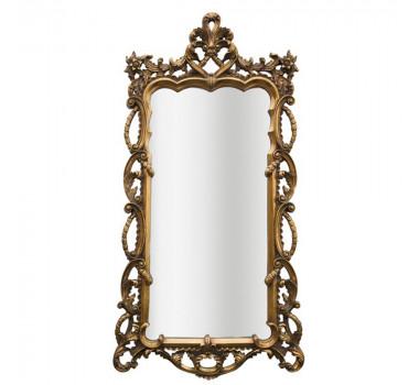 Espelho em Madeira Folheado a Ouro Moldura Decorativa
