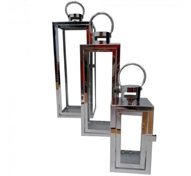 Jogo De Lanterna Decorativa Em Aluminio
