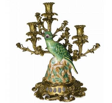 Castiçal em Porcelana e Bronze