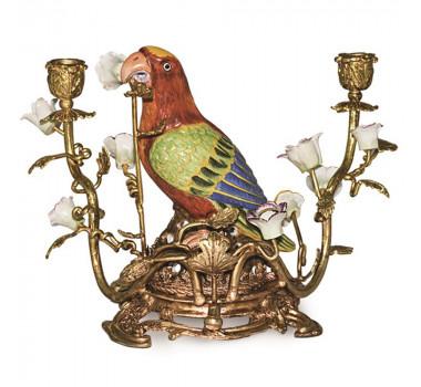 Par Castical Em Porcelana/Bronze