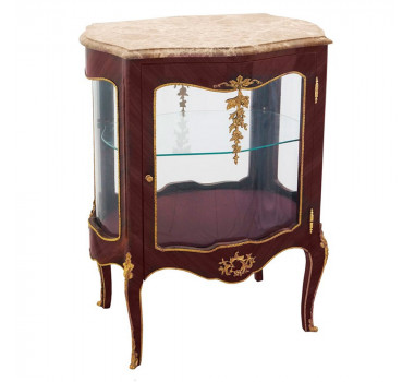 vitrine-em-madeira-com-tampo-em-marmore-e-apliques-em-bronze-84x63x42cm