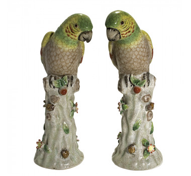 par-de-papagaio-em-porcelana-28x14cm