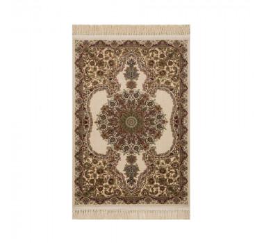 tapete-persa-kerman-bege-com-detalhes-em-vermelho-100x150cm