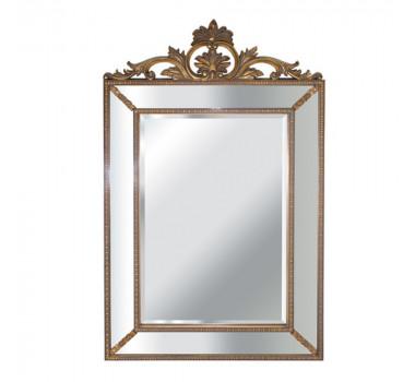 Espelho Retangular em Moldura Dourada Francesa Clássica