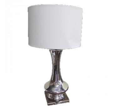 Abajur de Mesa em Vidro Cinza 85 cm X 43 cm