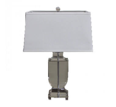 Abajur de Mesa em Vidro Cinza 70 cm X 20 cm