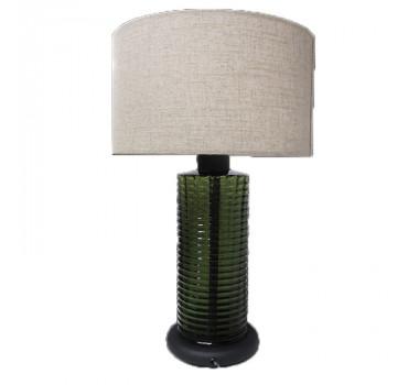 Abajur de Mesa em Vidro Verde 58 cm X 36 cm