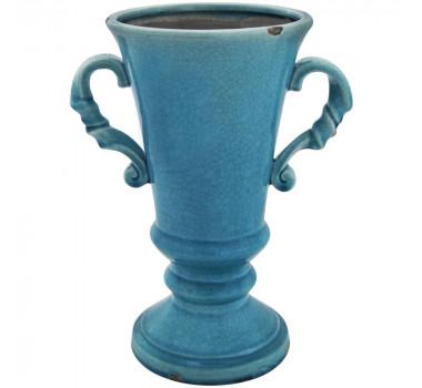 Ânfora em Cerâmica Azul Pietro
