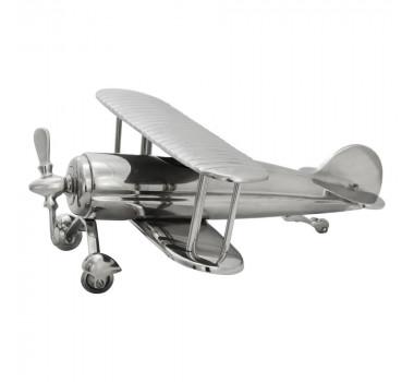 Miniatura de Avião Flying High em Alumínio - 33x38x14cm