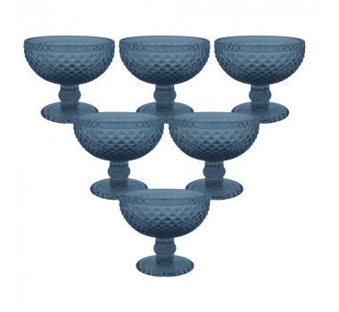 Jogo de Taças para Sobremesa Balbinot Azul