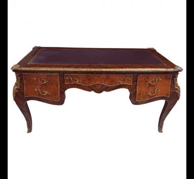 Escrivaninha Clássica Marchetada Luis XV com 5 Gavetas - 85x88x170cm