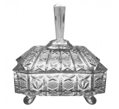 Bomboniere de Cristal 22 cm x 19 cm x 14 cm