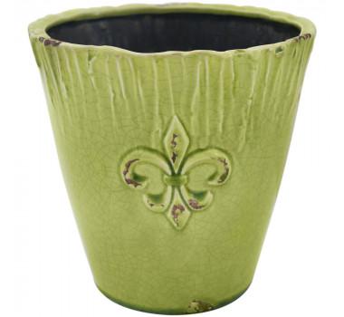 Cachepot Em Cerâmica Verde Max