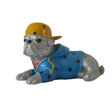 Cachorro em Porcelana Colorida