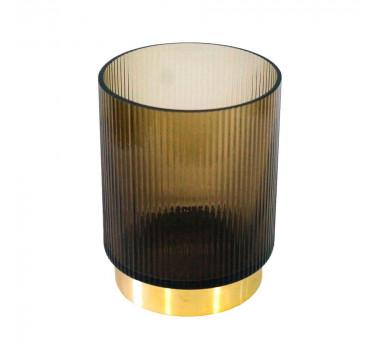 castical-decorativo-produzido-em-vidro-na-cor-marrom-20x15cm