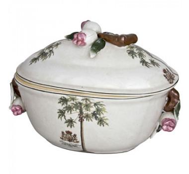 Caixa Decorativa de Porcelana Coqueiros