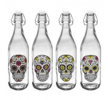 conjunto-de-garrafas-de-vidro-caveira-black-4-pecas