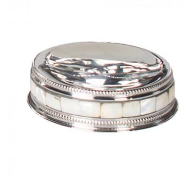 Saboneteira Madreperola e Alumínio 11X3