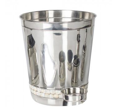 Lixeira / Balde Madreperola E Aluminio