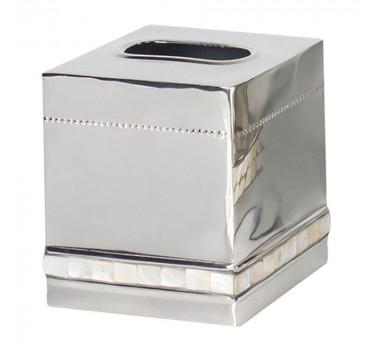 Porta Lenços Madreperola Aluminio