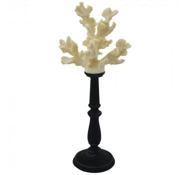 escultura-de-coral-em-resina-branca-com-suporte-preto-44x20x16cm