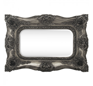 Espelho com Moldura Decorativa Chevalier Prata