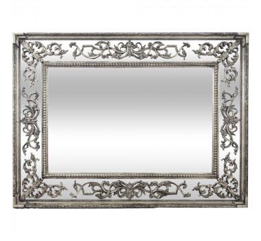 Espelho com Moldura Decorativa Dumont Prata