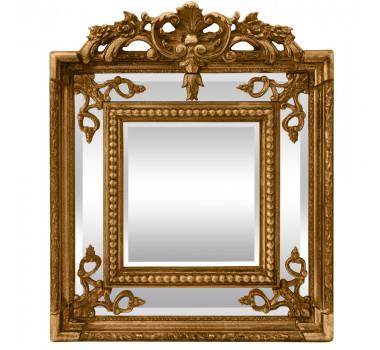 Espelho Quadrado Decorativo Clássico Estilo Luis XV